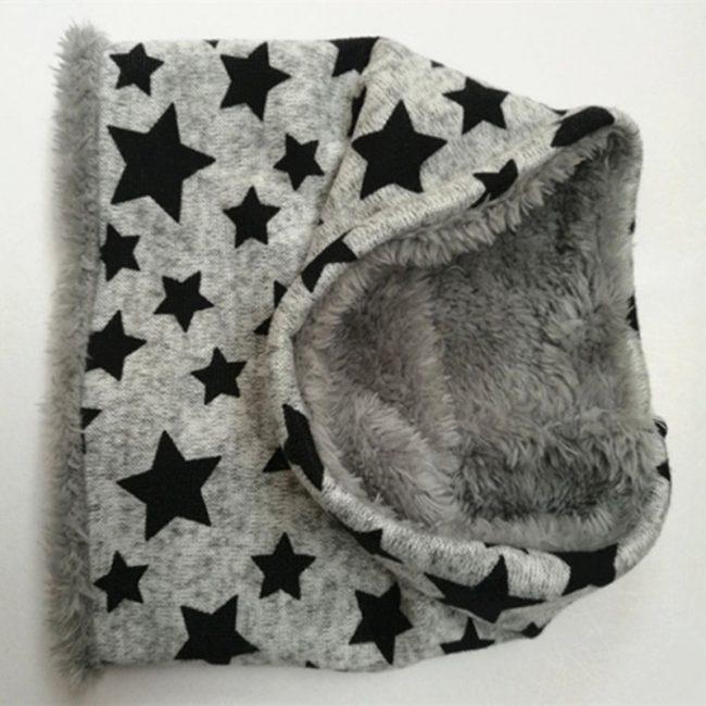 Baby sjaal grijs met sterren 6-36 maanden