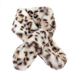 Baby sjaal met luipaard print creme