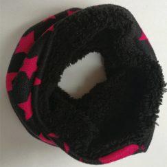 Zachte gevoerde baby sjaal zwart met sterren 6-36 maanden