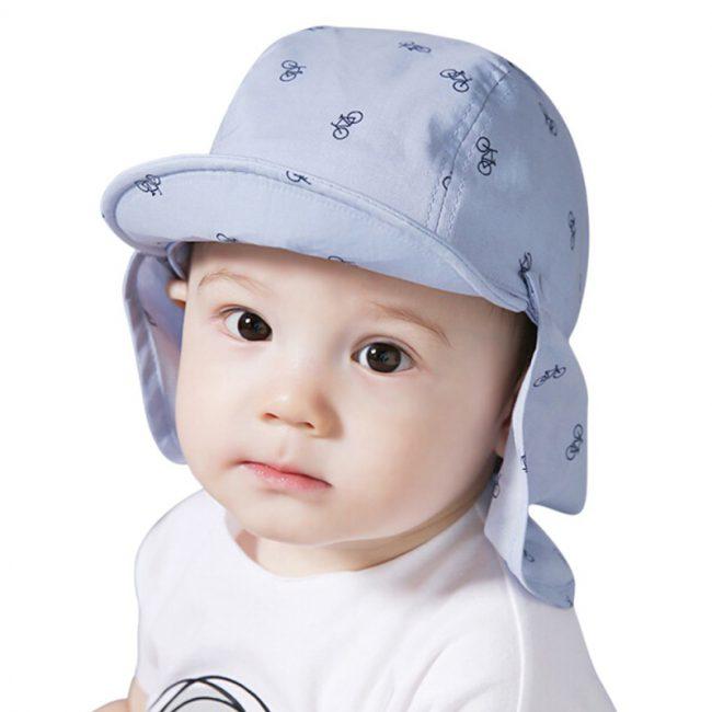 Zomer baby pet met nek doek tegen de zon 1 –2 jaar