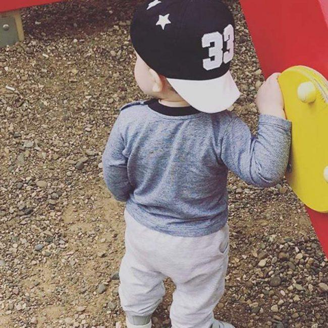 Zwarte kinder baseball pet 12 maanden