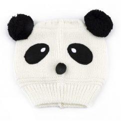 baby muts met oren panda wit