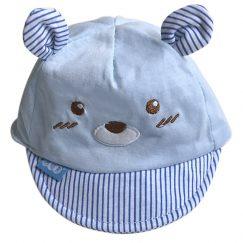 baby pet 0-12 maanden blauw met beer