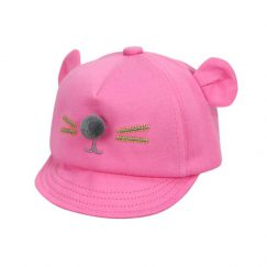 baby petje met oortjes en snuit roze