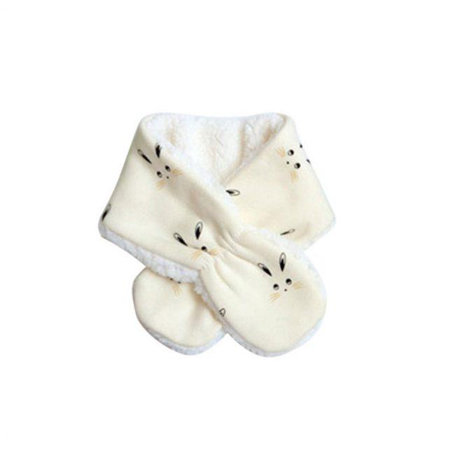 baby sjaal 6 maanden creme wit