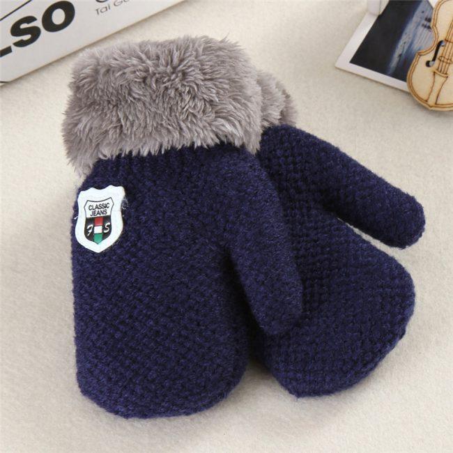 baby handschoenen effen blauw