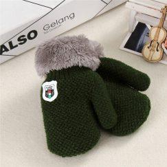 baby handschoenen effen groen