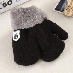 baby handschoenen effen zwart