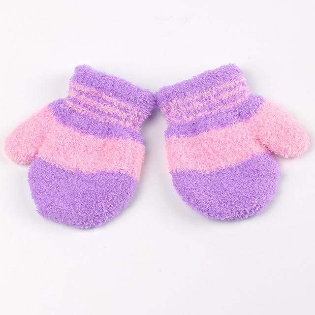 babywantjes multikleur paars roze