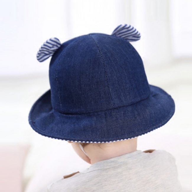 baby zon hoedje strand hoed baby met oren jeans look