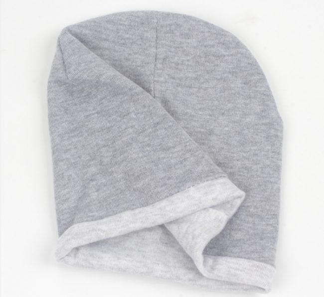 babymuts grijs met uil 0-12 maanden
