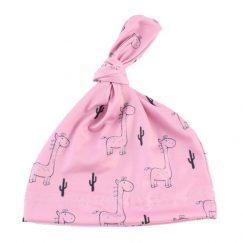 baby mutsje 6 maanden roze met giraffe