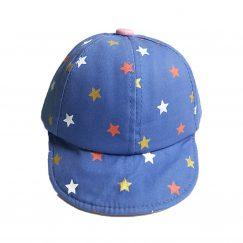 babypet blauw roze met gekleurde sterren