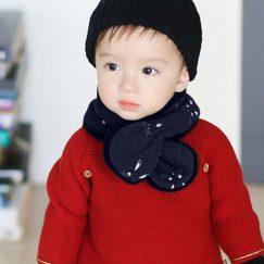babysjaal 6 maanden marine blauw