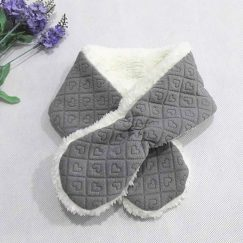 grijze warme sjaal voor baby meisje en jongen 3-24 maanden