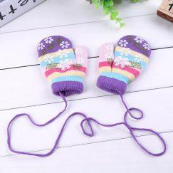 baby handschoenen kinder wanten antislip 1-3 jaar paars