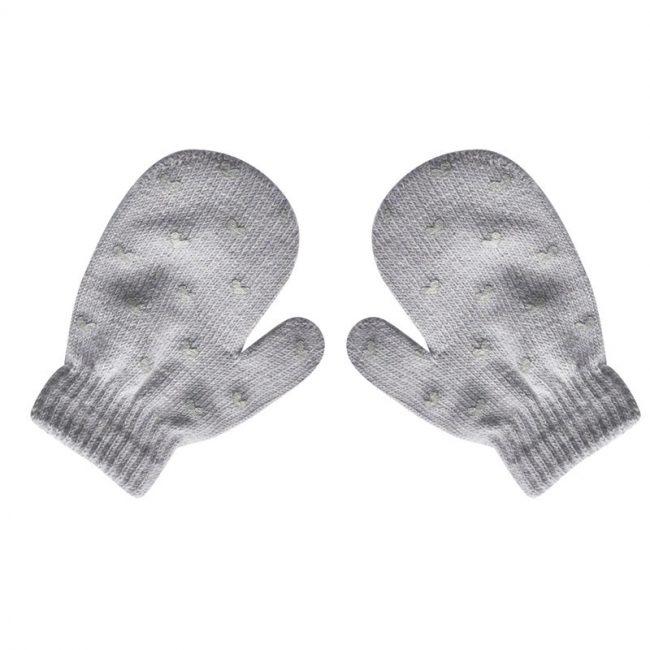 Wanten met antislip voor dreumes | grijs | 1-3 jaar