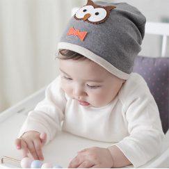 newborn baby muts grijs uil vanaf 0 maanden