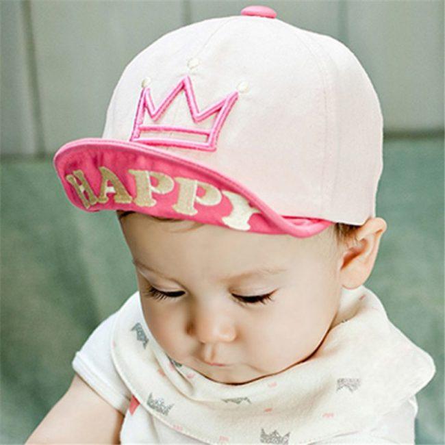 roze baby pet met kroontje 1-4 jaar