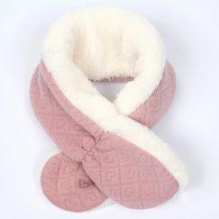roze warme baby sjaal 3-24 maanden