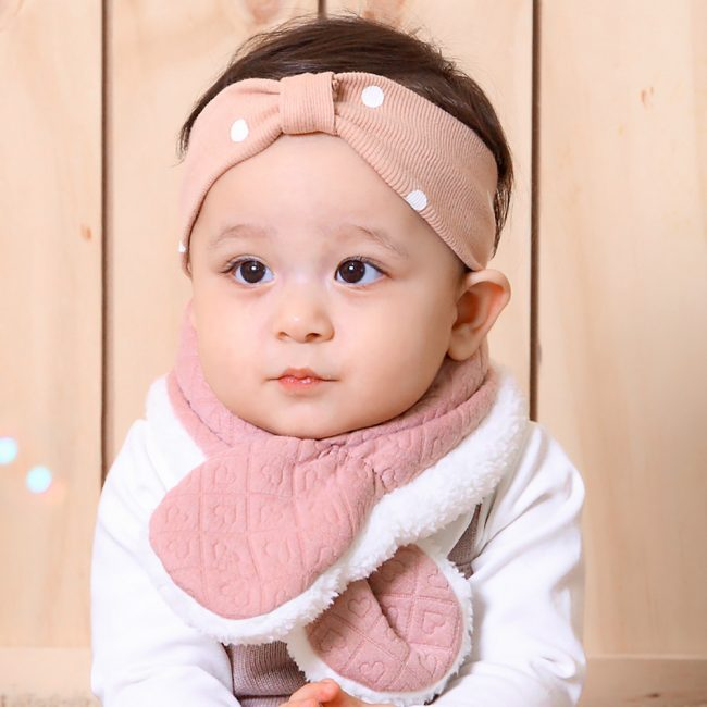 roze warme babysjaal 3-24 maanden