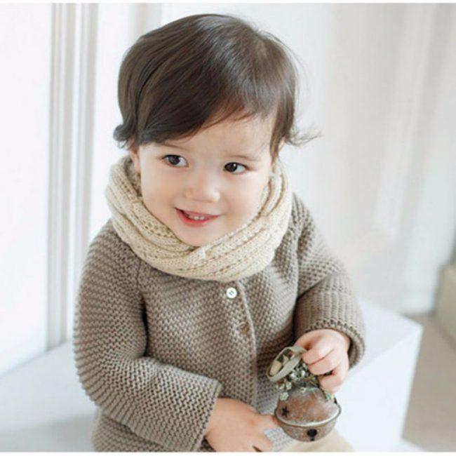 Warme sjaal voor kinderen kabel creme 2 8 jaar busy baby for Poppenhuis kind 2 jaar