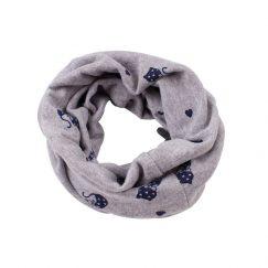 zachte sjaal peuter katoen grijs met poezen